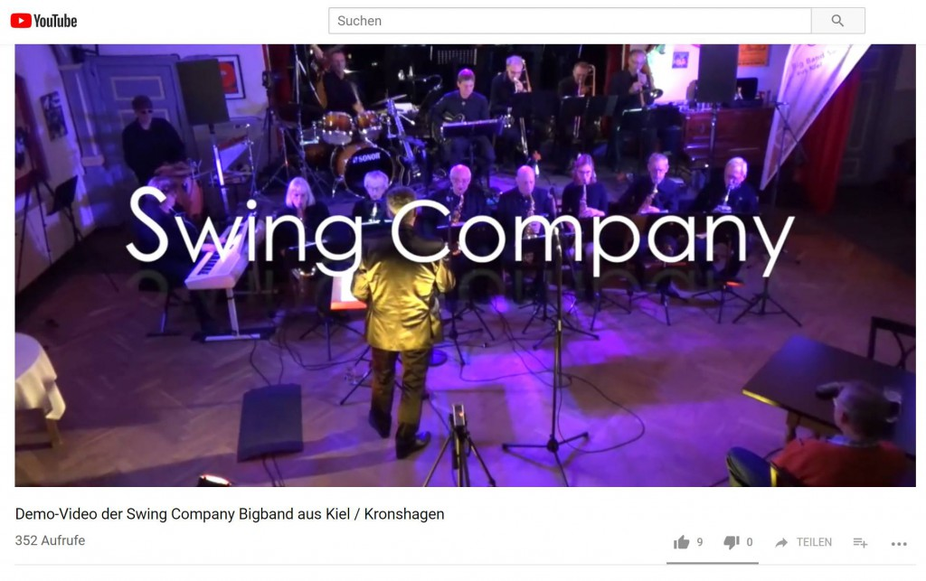 Demo-Video der Swing Company-Bigband aus Kiel / Kronshagen